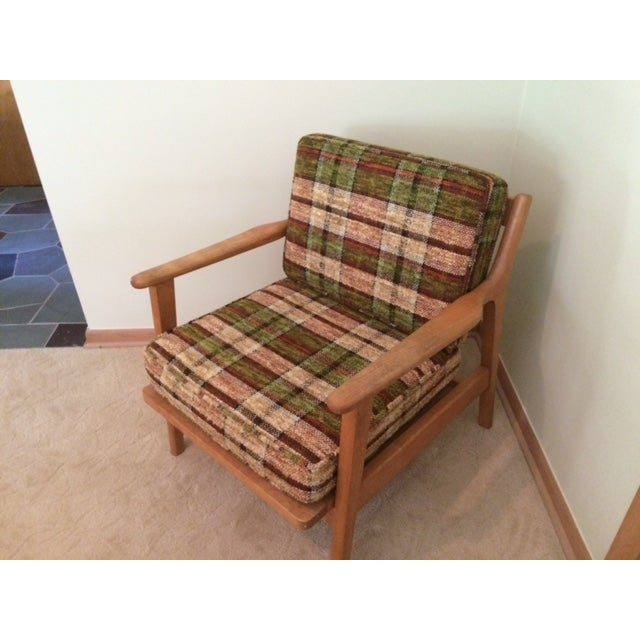 Conant Ball Mid-Century Plaid Lounge Chair - Image 2 of 4
