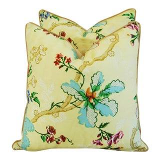 Custom Brunschwig & Fils Fabriano Pillows - Pair