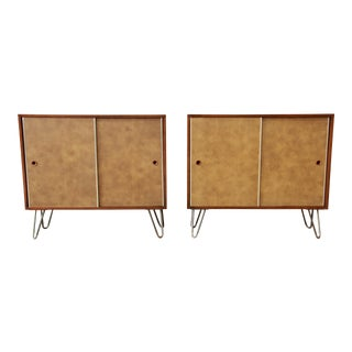 Paul McCobb for Calvin Small Cabinets on Hairpin Legs- a Pair