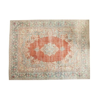 Vintage Distressed Arak Carpet - 10' x 13'3""