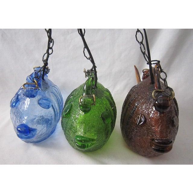 Blenko Glass Pendant Lights - Set of 3 - Image 3 of 9