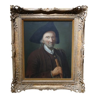 18th Century Dutch School Oil Portrait Painting