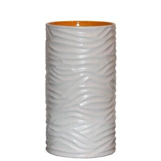 White Grooved Sonoma Vase