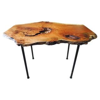 Raw Edge Cherry Burl Coffee Table