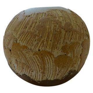 Organic Mid-Century Studio Pottery Stoneware Vase