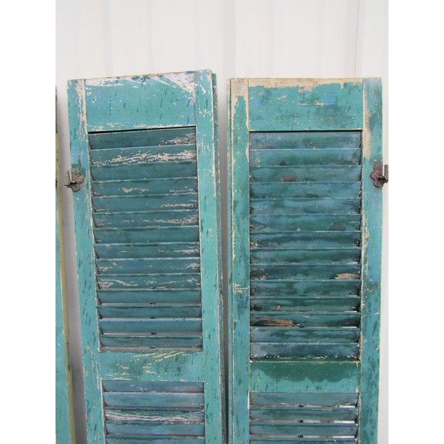 Rustic Cape May Victorian Shutters - A Pair - Image 2 of 5