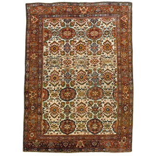 Antique Mahal Medallion Rug - 8′1″ × 12′6″
