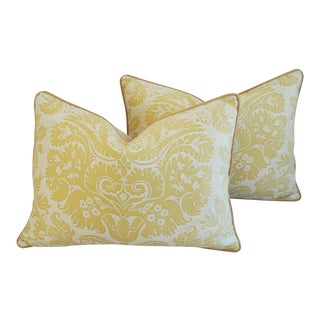 Mariano Fortuny Italian Demedici Feather/Down Pillows - a Pair