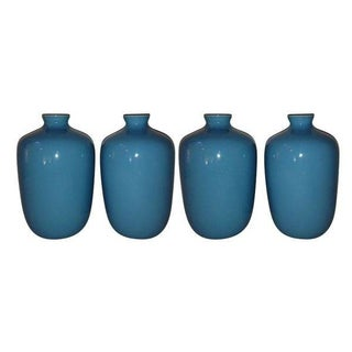 Turquoise Porcelain Vases by Middle Kingdom