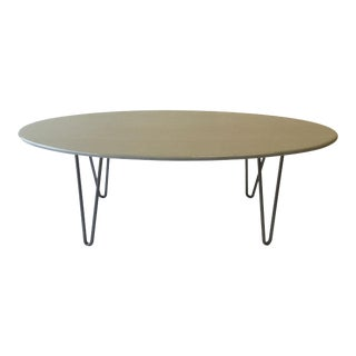 Mid-Century Modern Gray Surfboard Coffee Table