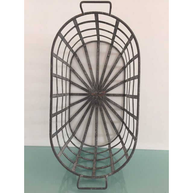 Vintage Zinc Basket - Image 4 of 8