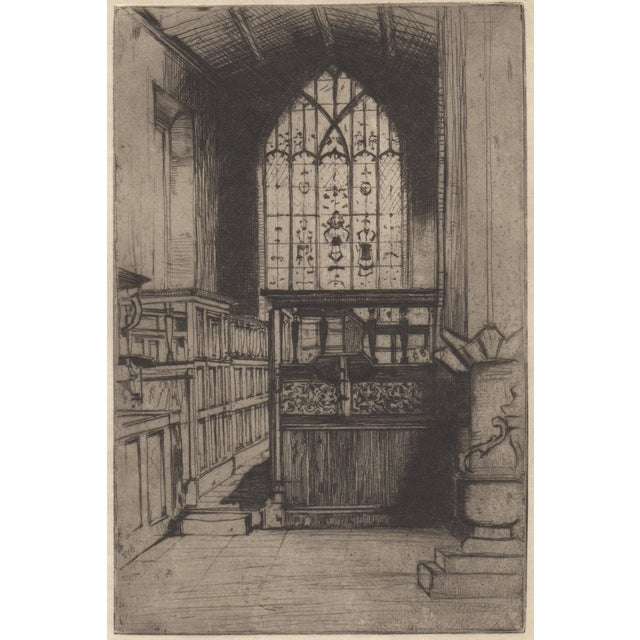 "Sir David Cameron ""The Chapel"" Etching C.1902 - Image 1 of 3"
