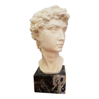 David Bust On Marble Base