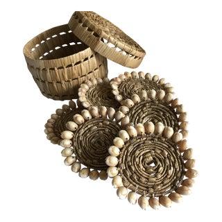 Woven Seashell Coasters - Set of 6