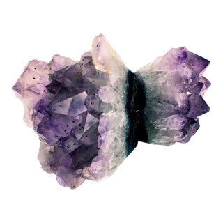 Large Amethyst Natural Bookends - A Pair