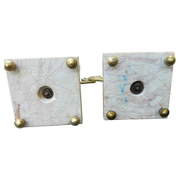 Image of Antique French Bronze Marble Cassolettes - A Pair