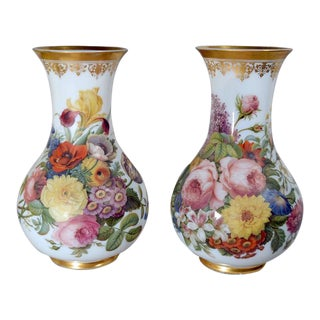 French Baccarat Opaline Crystal Vases by Jean-Francois Robert
