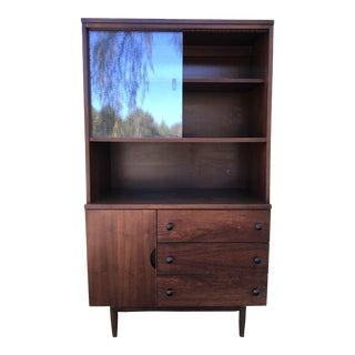 Stanley Furniture Mid-Century Modern Dry Bar Hutch Display Case