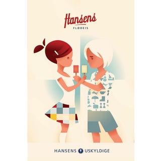 Mads Berg 'Hansen's Flodeis' Danish Poster