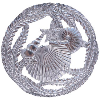 Fitz and Floyd Silver Seaside Trivet