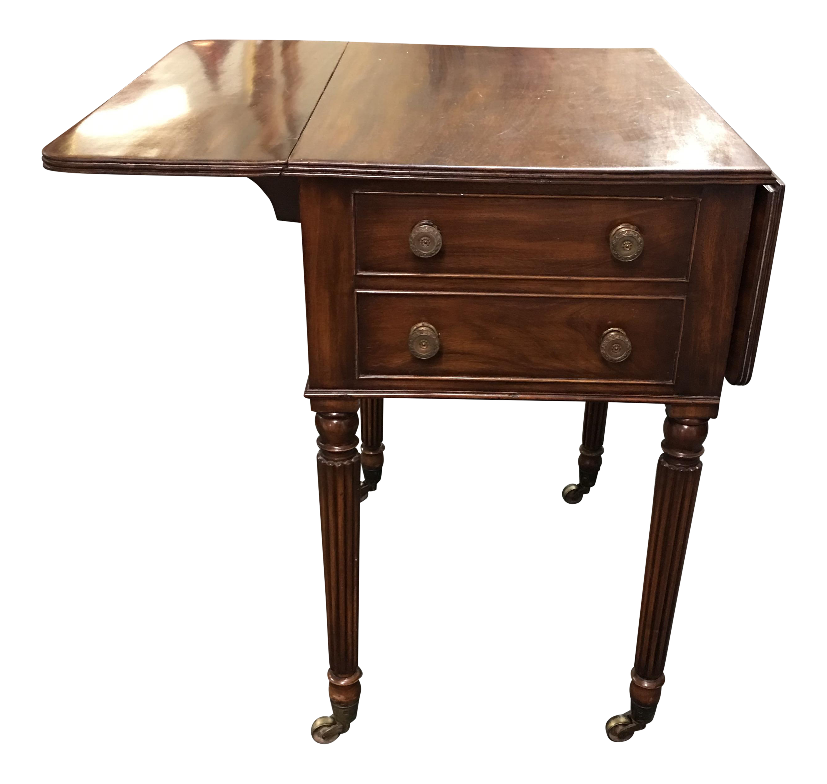 Attractive Vintage Drop Leaf Side Table   Image 1 Of 9