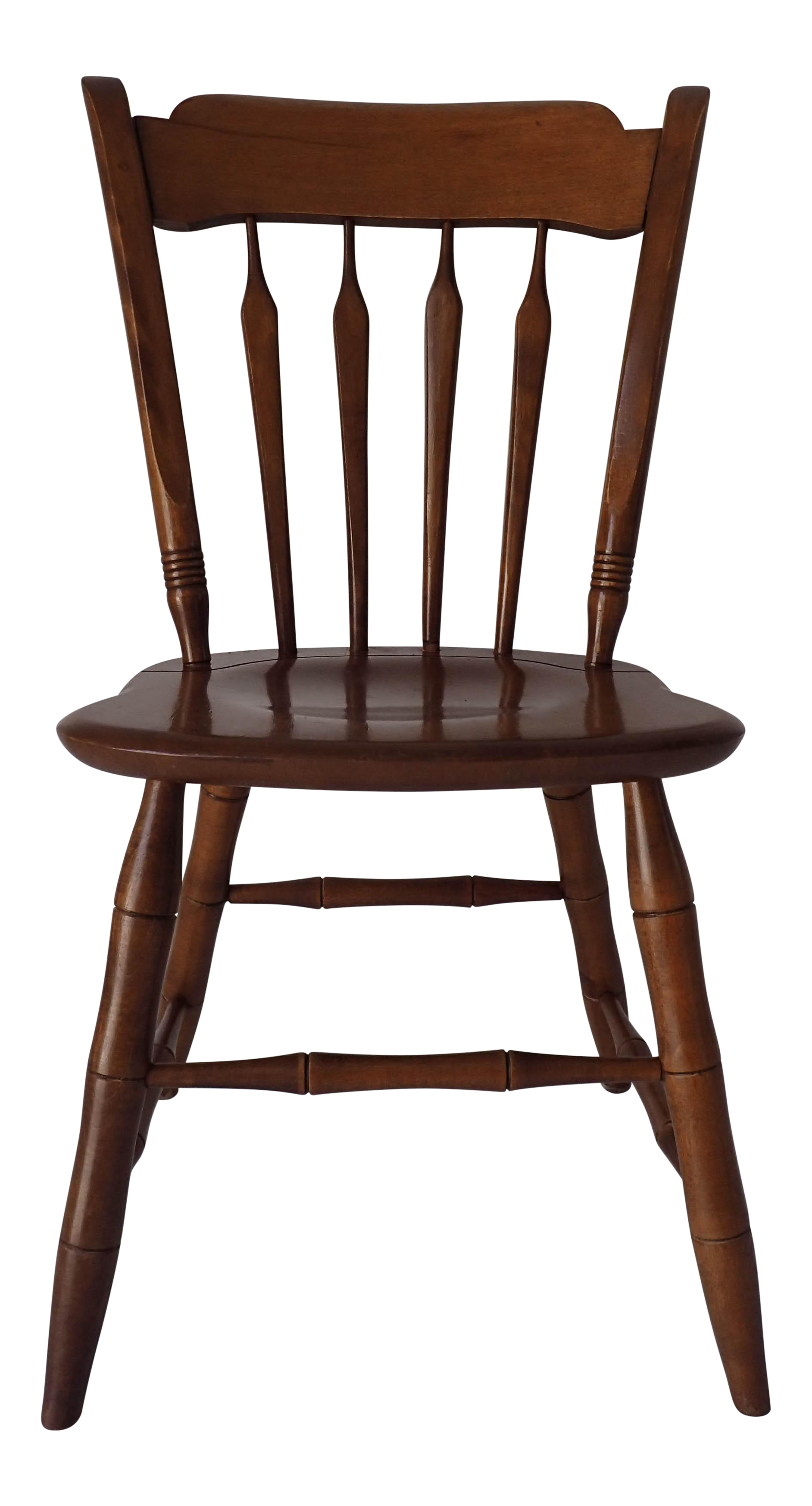 ethan allen country thumbback dining chair
