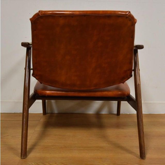 Brown Vinyl Lounge Chair - Image 8 of 9
