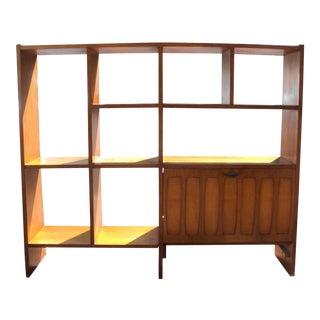 Mid-Century Modern Wood Etagere Shelf