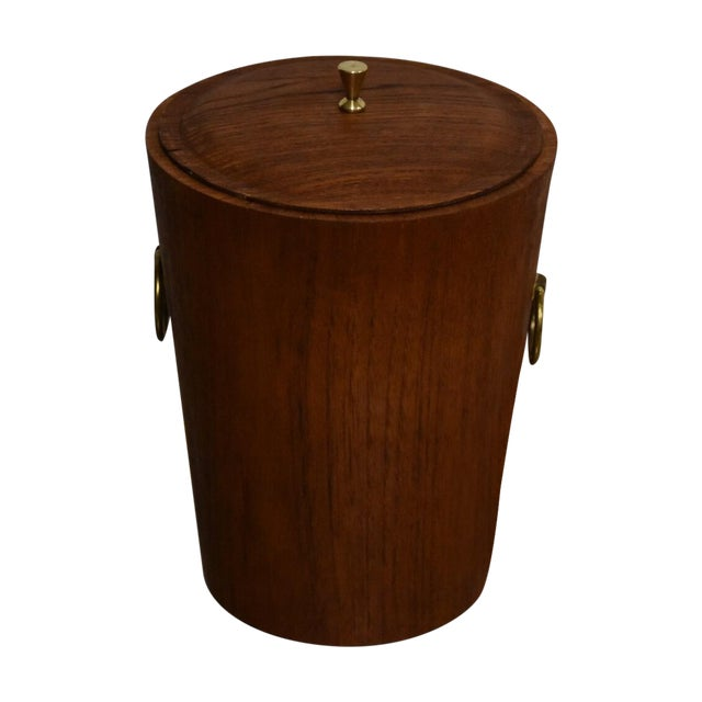 Mid-Century Teak Ice Bucket - Image 1 of 8