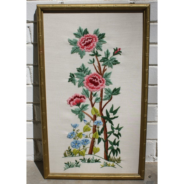Vintage Needlepoint Pictures - Pair - Image 4 of 7