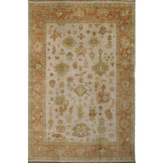 """Hand-Knotted Oushak Rug - 3'11""""x 5'11"""""""