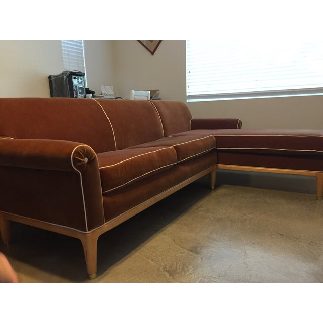 Roger Thomas L-Shape Orange Sectional Sofa - Image 3 of 5