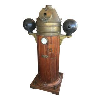 Lilley & Gillie Ltd Brass & Wood Ship Binnacle