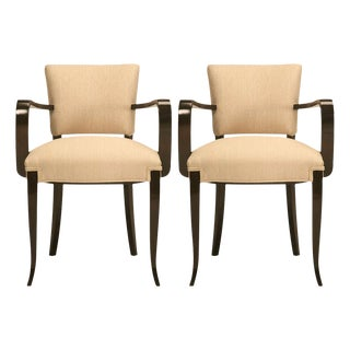 Pair of Fully Restored Vintage French 40's Bridge Chairs