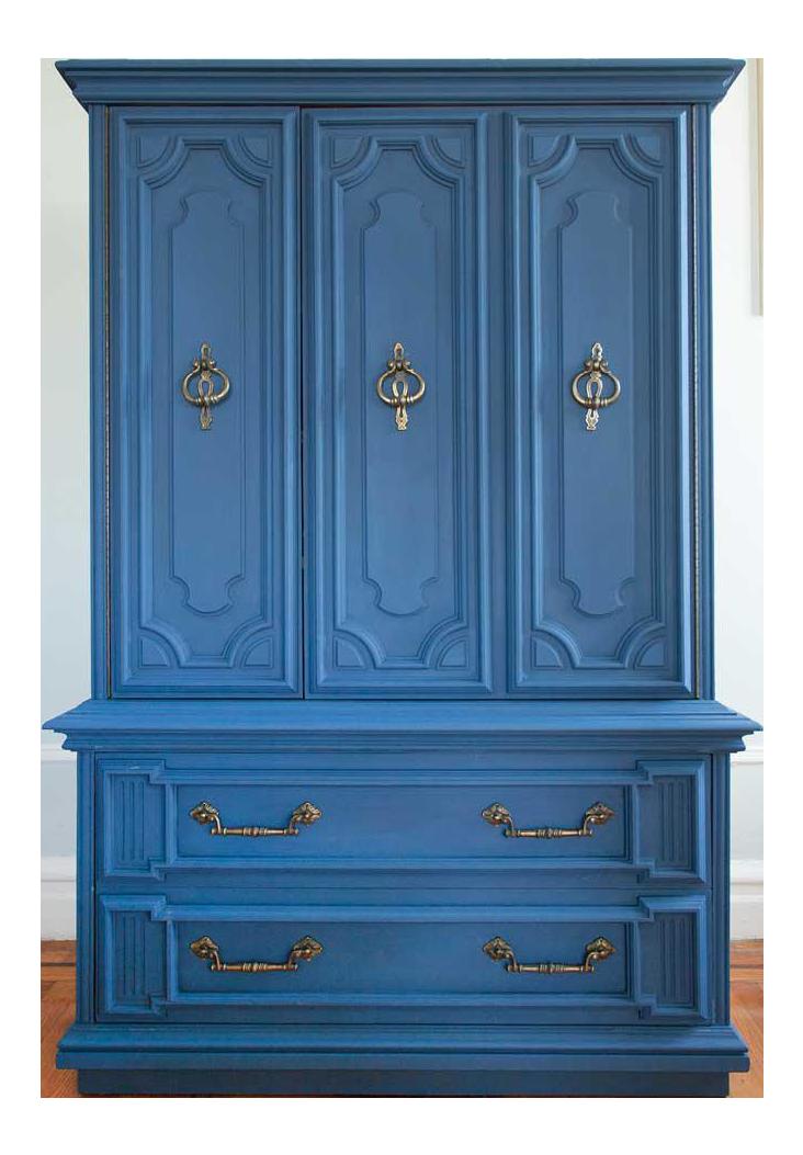 furniture armoire. vintage blue lucille armoire furniture