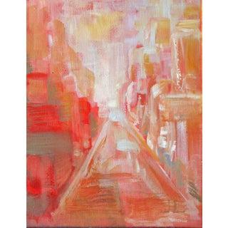 Warm City Sun Acrylic Painting