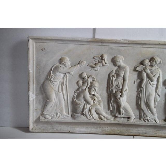 Neoclassical Plaster Relief Cherub Wall Art - Image 3 of 11