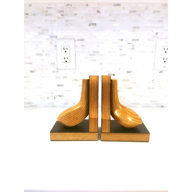 Mid-Century Wood Golf Club Bookends - A Pair - Image 2 of 6