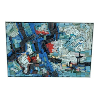 Regnier Modernist Sculptural Tile Mosaic Wall Art