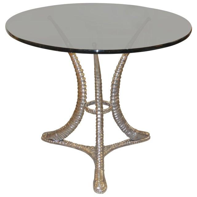 "Arthur Court ""Tusk"" Aluminum Dining Table - Image 1 of 6"