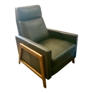 West Elm Mid Century Styled Leather Recliner