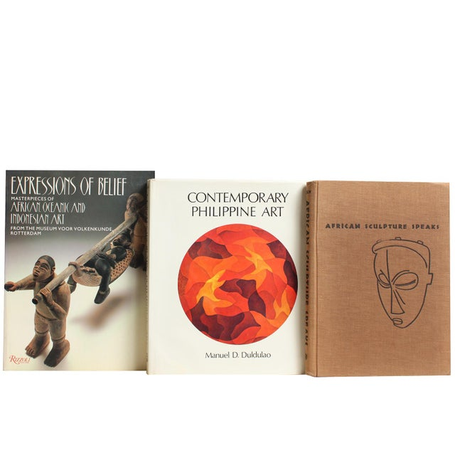 Image of Primitive & Island Book Art Stack - Set of 5