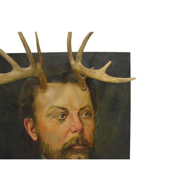Altered Original Oil Portrait Painting - Image 5 of 6