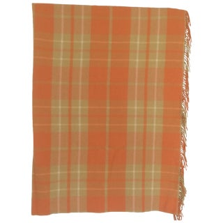 Orange Wool Blanket from London