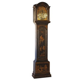 George II Japanned Chinoiserie Longcase Clock by John Crouch, Knightsbridge