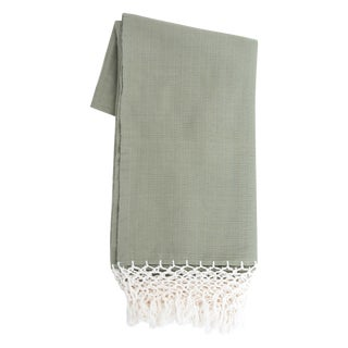 Mexican Olive Green Cotton Tablecloth