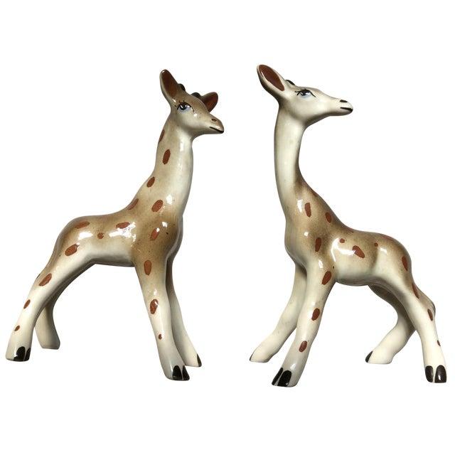 Image of Giraffe Figurines - A Pair