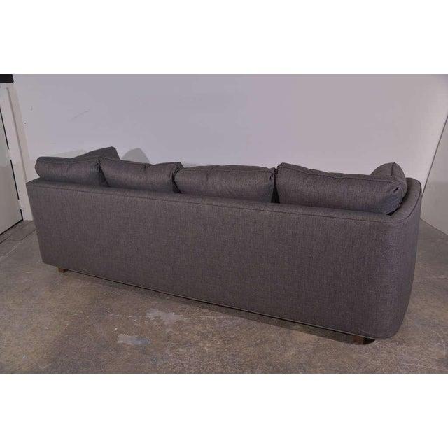 Henredon Curved Arm Charcoal Gray Sofa - Image 4 of 9