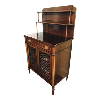 English Tiered Two Door Chiffonier Sideboard