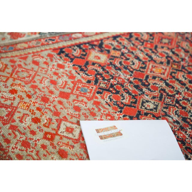 """Distressed Antique Malayer Rug - 4'1"""" X 6' - Image 8 of 8"""